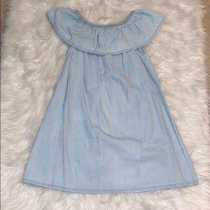 FABkids off the shoulder denim dress